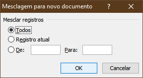 Mesclagem para novo documento